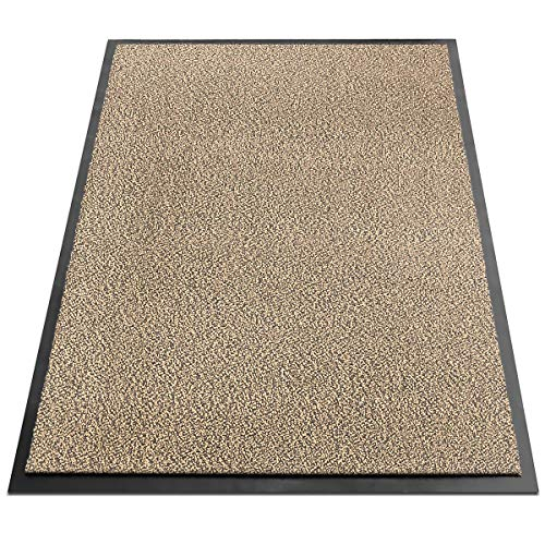 Certeo Schmutzfangmatte Sky | BxL 200 x 300 cm | Ockerschwarz | Sauberlaufmatte Sauberlaufteppich Fußmatte Eingangsmatte Schmutzschutzmatte