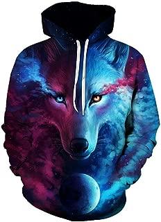 Best 3d trippy wolf hoodie Reviews