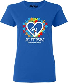 Autism Awareness Hands in Heart Women's T-Shirt