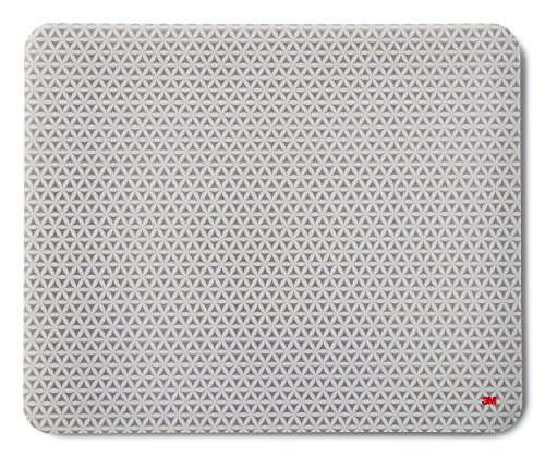 3M MS200PS Präzisions-Mousepad mit selbsthaftender Unterseite, 21,5 x 17,8 cm, grau