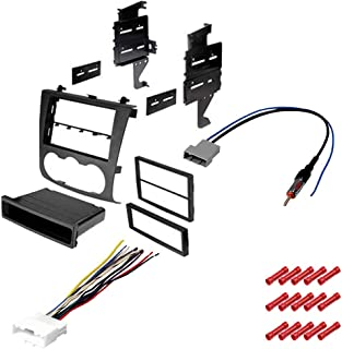 CACHÉ KIT1067 Bundle with Complete Car Stereo Installation Kit Compatible with 2007-2012 Nissan Altima - in Dash Mounting Kit, Harness, Antenna for Single or Double Din Radio Receivers (4 Item)