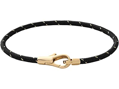 Miansai Knox Rope Bracelet (Black/Gold) Bracelet