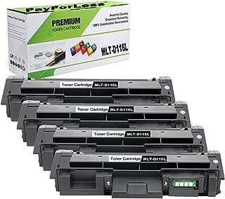 PayForLess Toner Cartridge MLT-D116L D116L Black 4PK Replacement for Samsung Xpress SL-M2625 M2885FW M2825DW M2875FW M2625D M2875FD 2626 2835 2825 Printers