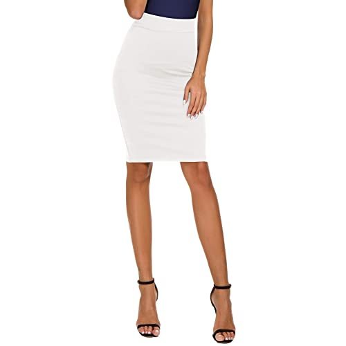 d783e13a2b Women's High Waist Bodycon Midi Pencil Skirt