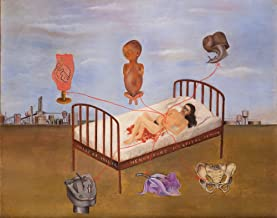 Berkin Arts Kahlo de Rivera Giclee Canvas Print Paintings Poster Reproduction(Henry Ford Hospital)