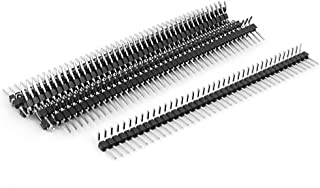 uxcell a15062500ux0349 Right Angle Single Row 40-pin 2.54mm Male Header for Breadboard (Pack of 10)