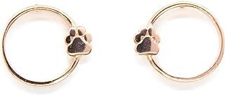 Blish 925 Sterling Silver Paw Print Stud Earrings for Women, Cute Animal Pet Bear Dog Cat Footprint Earrings Jewelry Gift for Animal Lover