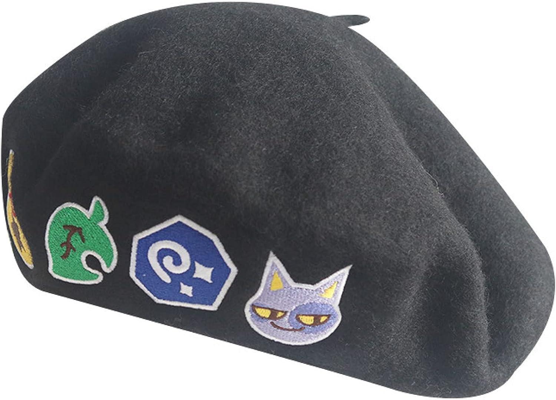 AOBRICON Wool Beret Hats for Women Autumn Berets Cartoon Japanese Painter Hat Female Cute Winter Caps