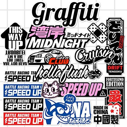 XXCKA 15 Harajuku Cartoon Graffiti Style Tide Card Sticker Etiqueta de Equipaje Etiqueta de Caja Impermeable Etiqueta de Maleta