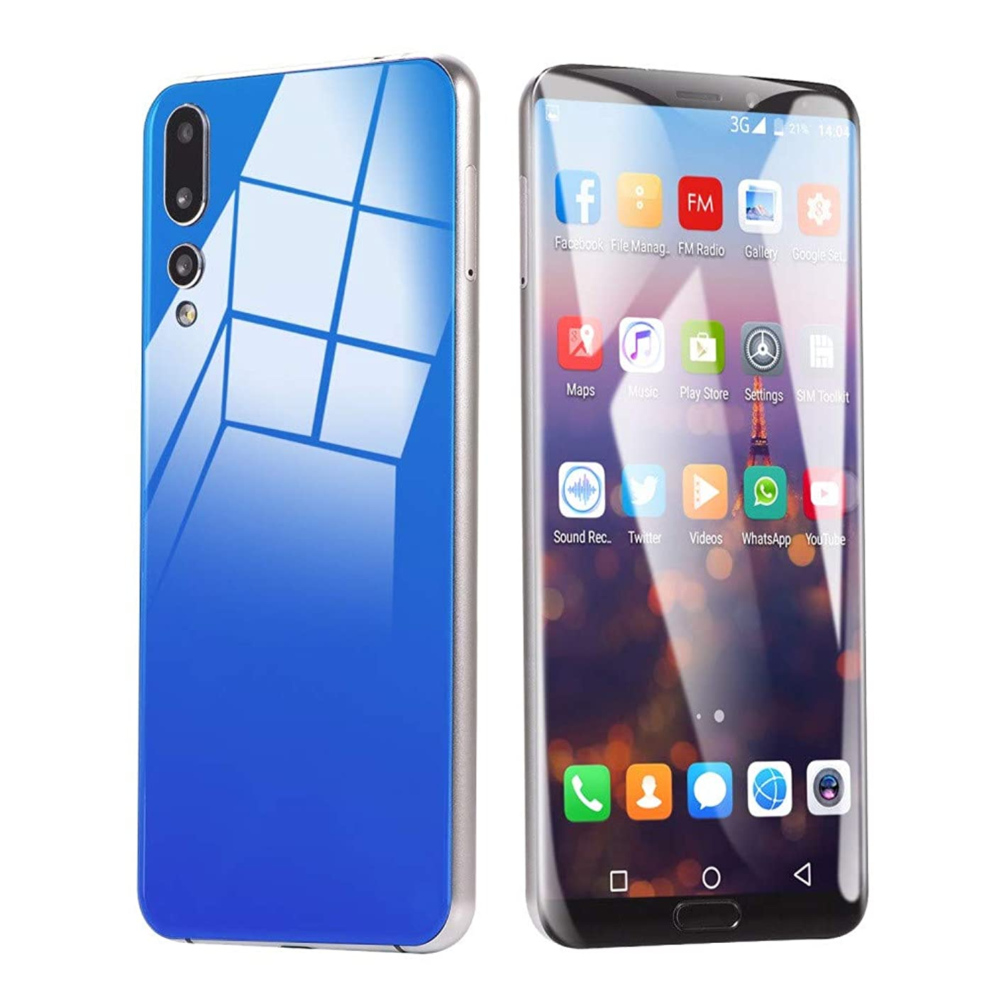 Smartphone Unlocked Cell Phones Eight Cores 6.1 inch Dual HD Camera Unlocked Android 8GB Dual SIM Mobile Phone