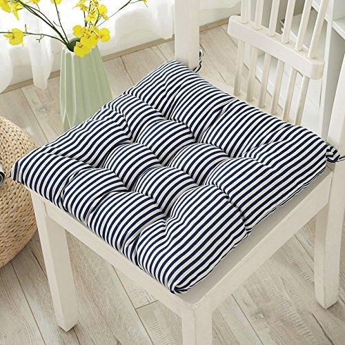 WDZA Un Simple Coussin De Chaise Tissu Office Étudiants Classe Assise, Pique-Nique Jardin 45X45Cm, Bleu Et Blanc