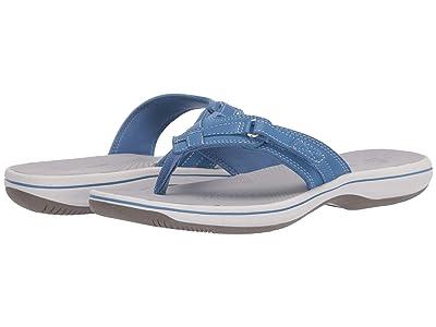 Clarks Breeze Sea (Blue Synthetic) Women