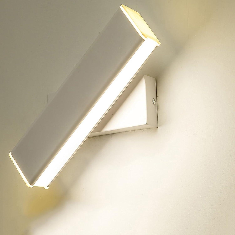 Kreative drehbare Wandleuchte, Bett Wohnzimmer Schlafzimmer Studie Wandleuchte Lesung Wandleuchte (Farbe   Weiß)