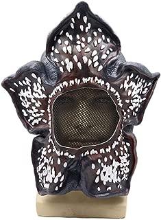 Halloween mask Movie Stranger Things Demogorgon Cosplay Mask Latex Headgear Halloween Party Props (Color : Black)