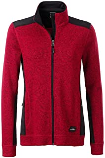 James and Nicholson Womens/Ladies Knitted Workwear Fleece Jacket