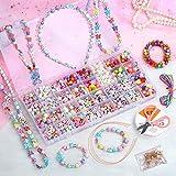 3T6B Pulseras para hacer cuentas, juguetes de cuentas de colores para accesorios infantiles, hacer pulseras de bricolaje, cadenas de regalos de joyas con collar de cuentas