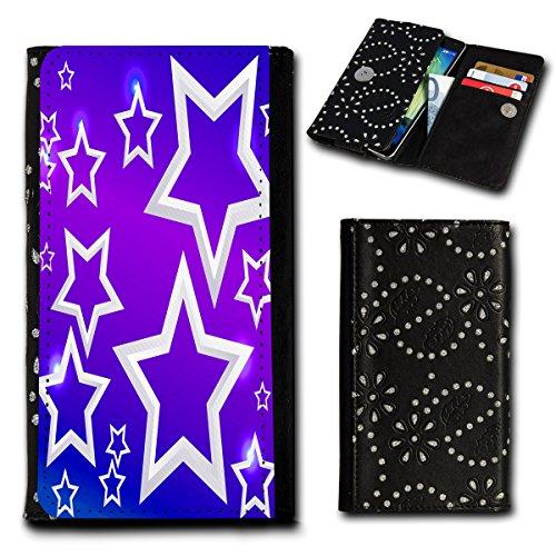 Strass Book Style Flip Handy Tasche Hülle Schutz Hülle Foto Schale Motiv Etui für Mobistel Cynus E4 - Flip SU4 Design2