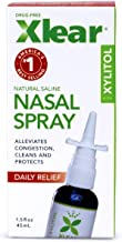 XLEAR Nasal Spray, 1.5 Fl Oz, All-Natural Saline and Xylitol Moisturizing Sinus Care - Immediate and Drug Free Relief From...