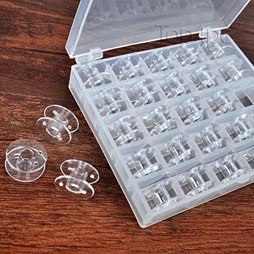 Canillas para máquina de coser Singer, Brother, bermina, Pfaff, Janome, Toyota, Elna, con funda de almacenamiento–Universal–25piezas