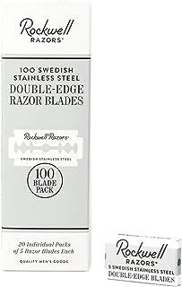 Rockwell Razors Swedish Stainless Steel Double-Edge Safety Razor Blades - 100-Pack (2 Year Supply)