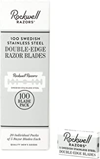 Rockwell Razors Swedish Stainless Steel Double-Edge Safety Razor Blades - 100-Pack (2 Year Supply)