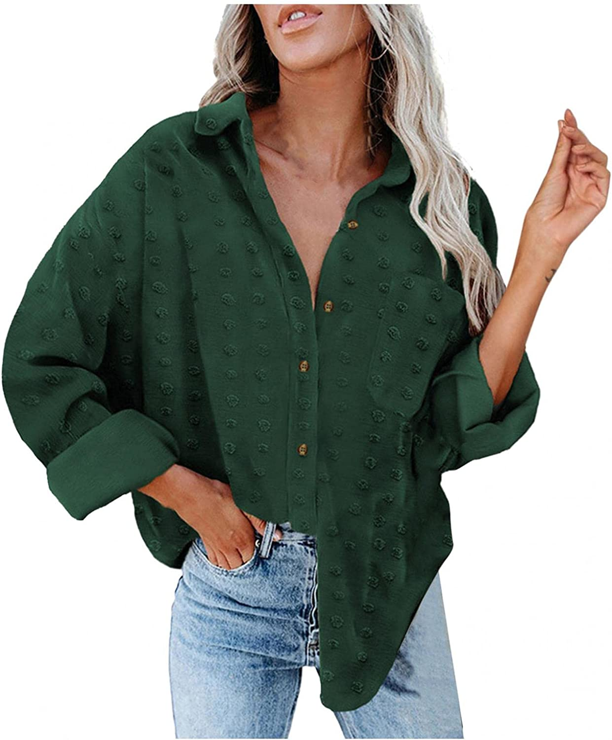 Aukbays Womens T-Shirts Women Summer Ruffle V-Neck Slim Fit Solid Color Green Tops Shirts Short Sleeve Blouses Tunic