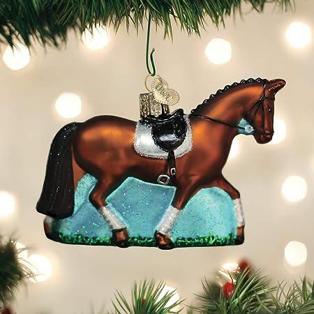 Galaxy Horse Glass Ornament Square