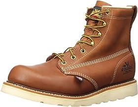 "Thorogood Men's American Heritage 6"" Tobacco Plain Toe, MAXWear Wedge Non-Safety Toe Boot"