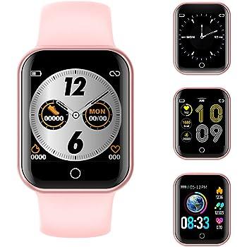 Montre Connectée, 1,4 Pouce Bluetooth Smartwatch Femmes Homme Etanche IP68 Bracelet Connecté Cardio Tensiomètre Podometre Enfant Sport Fitness Tracker