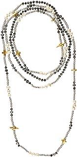 ffd5322b61b2 LuckyLy – Collares de Mujer Largos Estilo Wrap - Collar Mujer Perlas Alice  Multi-Vueltas
