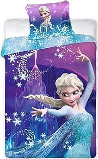 Disney Frozen Princess Anna and Elsa Kids Reversible Duvet Cover 140 x 200 cm + 1 Pillowcase 100% Polyester