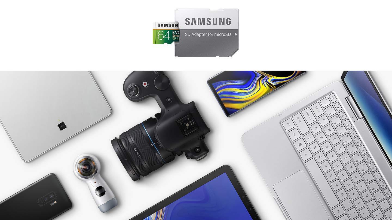 SAMSUNG: EVO Select 128GB MicroSDXC UHS-I U3 100MB/s Full HD & 4K UHD Memory Card with Adapter (MB-ME128HA)