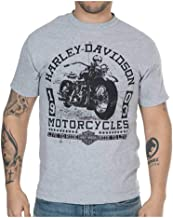HARLEY-DAVIDSON Men's Old Days Distressed Short Sleeve T-Shirt - Heather Gray