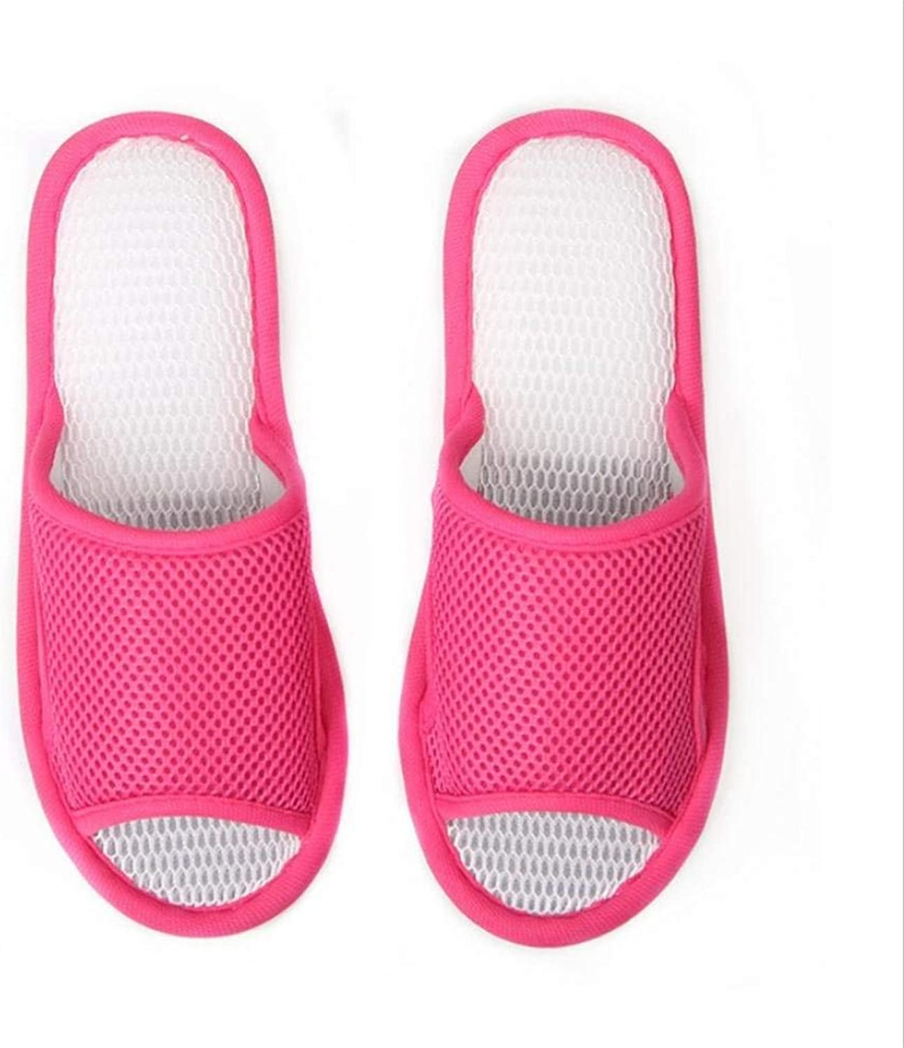 JaHGDU Women's Mesh Slippers pink Red Green Casual Home Interior Flooring Non-Slip Slippers Summer for Women