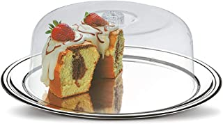 BRINOX 1525/132 Stainless Steel Cake Container with Lid, Silver