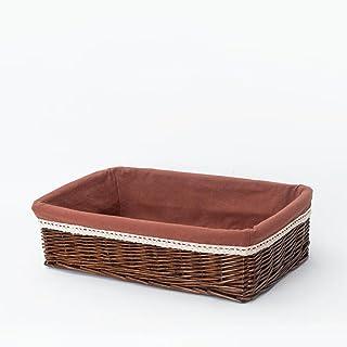 Xuan - Worth Another Noyer Tissu Carré Snack Boîte Fait Main Rattan Simple Collection Panier Panier De Rangement (Taille :...