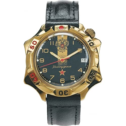 Vostok Komandirskie 539792 / 2414a Military Russian Special Forces Watch Black