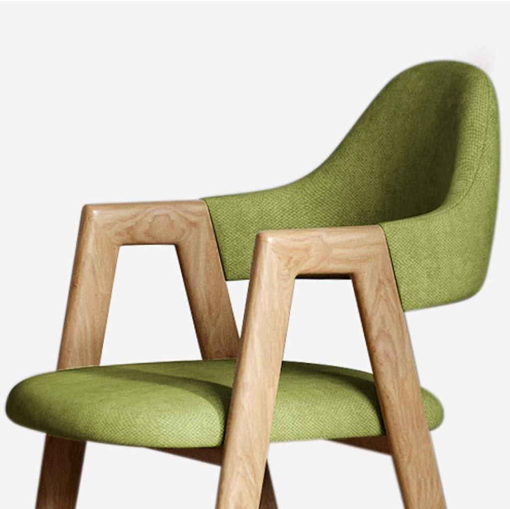 LF Chaise de Salle, Chaise de Bureau Simple, créative Dossier, Chaise Loisirs, Maison Adulte Chaise de Salle Simple (Color : Dark Gray) Green