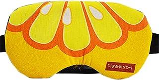 Remeehi Men's Novelty Fruit Style Eye Mask For Kids And Adult Medium Orange