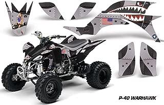 Yamaha YFZ 450 2004-2013 ATV All Terrain Vehicle AMR Racing Graphic Kit Decal P40 WARHAWK BLACK