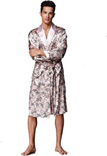 BOYANN Nightwear Kimono Robe for Men Dressing Gown Bathrobes Pajamas