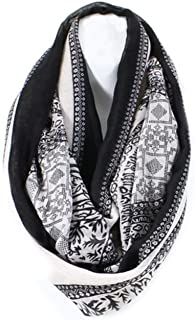 AN Light Weight Infinity Scarf for Women Summer Cute Tribal Deer Print Loop