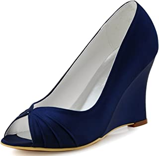 Best blue wedge wedding shoes Reviews