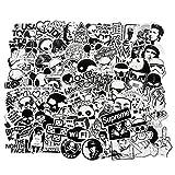 Cool nero bianco pezzi del vinile retro pop art graffiti super adesivi per laptop MacBook ...