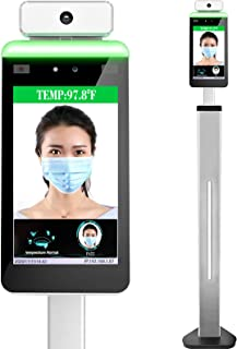 Face Recognition Temperature Measurement - Automatic Infrared Body Temperature Scanner, Non-Contact Thermal Kiosk Access C...