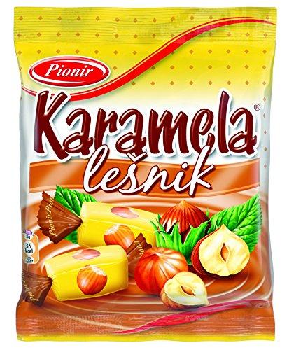 Pionir Lesnik Karamellbonbons mit Haselnussgeschmack, 8er Pack (8 x 100 g)