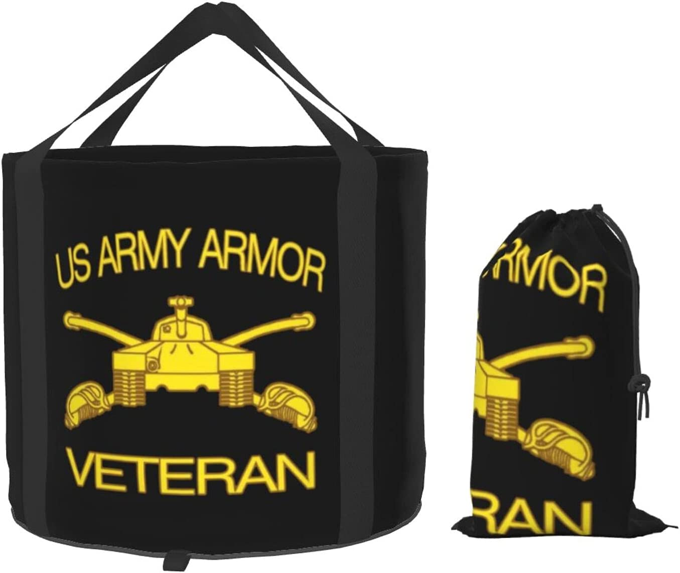 Army Dealing online shop full price reduction Armor Branch Insignia Military Veteran Pail Folding Bucket