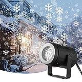 Kris Christmas Projector, Snowflake Projector Light Rotating Christmas Snowflake Lights for Christmas Holiday Wedding Party Garden Indoor & Outdoor Decorations