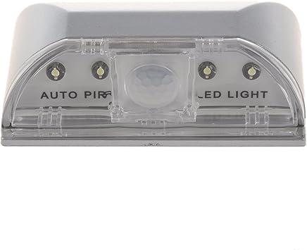 TOOGOO SODIAL (R) 自動PIRドア 鍵穴 モーションセンサー検出器LEDライトランプ キッチン、リビング、ベッドルーム、廊下、階段、引き出し、クローゼット、ウォールキャビネットに最適 (白)