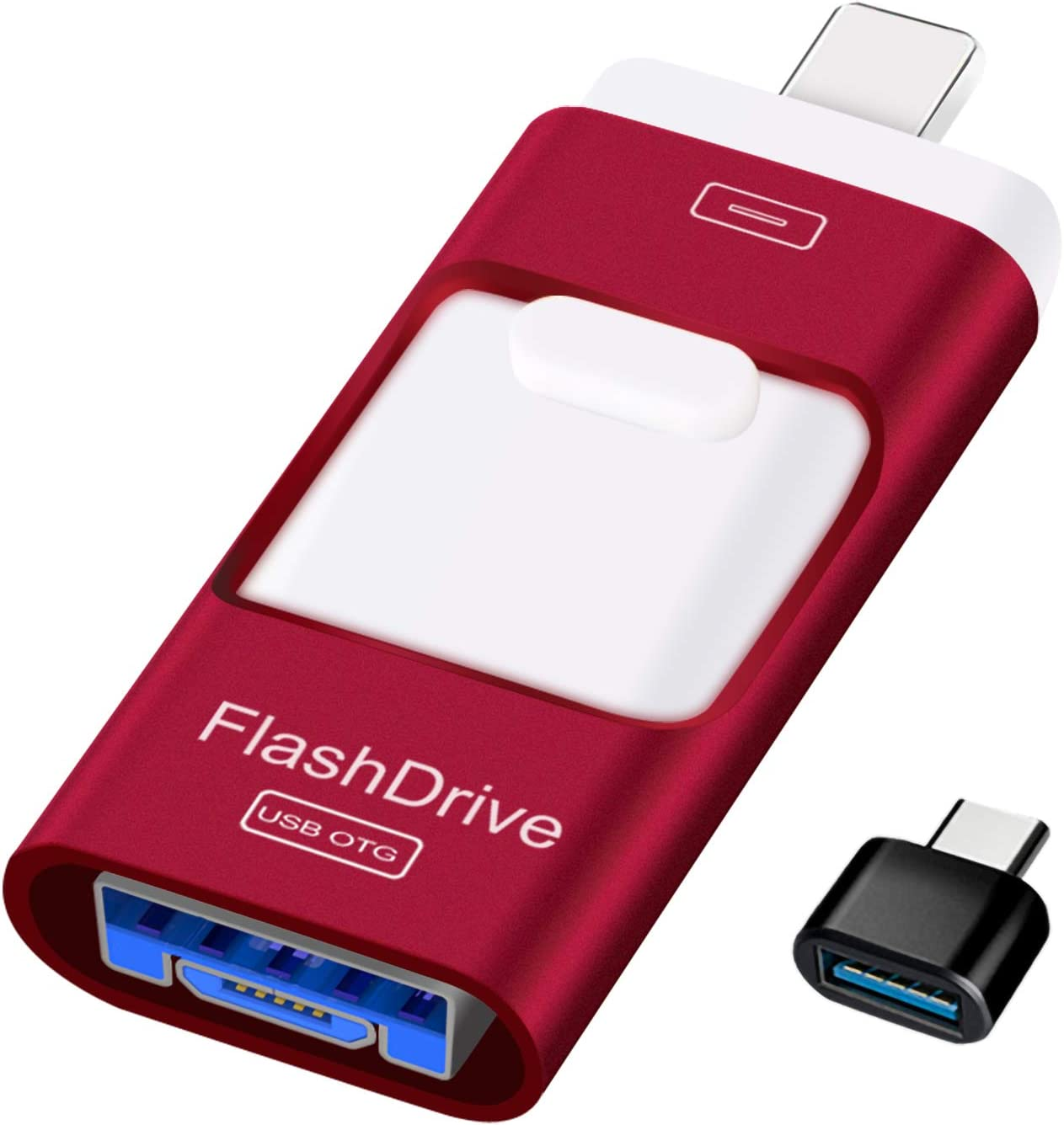 Sunany USB Flash Drive 256GB, Photo Stick Memory External Data Storage Thumb Drive Compatible with iPhone, iPad, Android, PC and More Devices (Red)